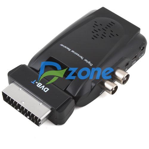 Scart Digital TV Box Tuner DVB-T SD FreeView Receiver [2610|01|01](China (Mainland))