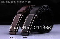 Free shipping /high quality/leather belt with steel buckle for man/Genuine leather/puretail or wholesale