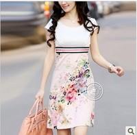3xl bust 100cm spring summer gentlewomen slim ol elegant one-piece dress