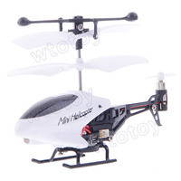 3.5 CH Ultra-Mini Infrared R/C Helicopter w/ Gyro White + Black LH1211 20657