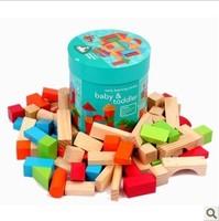 Elc 75 bottled wood blocks child wooden toys elc blocks new arrival