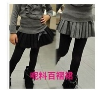 arrival girl's high quality pleated skirt kids gray black bow skirt children clothing baby autmn wears 5pc/lot Free shipping
