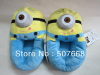 "Soft Minion Stuffed Despicable Me Slippers Collectible Cuddly Stewart 11"" Plush slipper Toys"