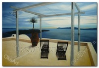 Aegean Seascape Oil Painting Hand Painted Hotel Living Room Paintings Modern Painting Home Decoration Wall Art Free Shipping A05