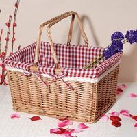 Large shuiguolan wicker rattan storage basket picnic basket storage basket storage basket