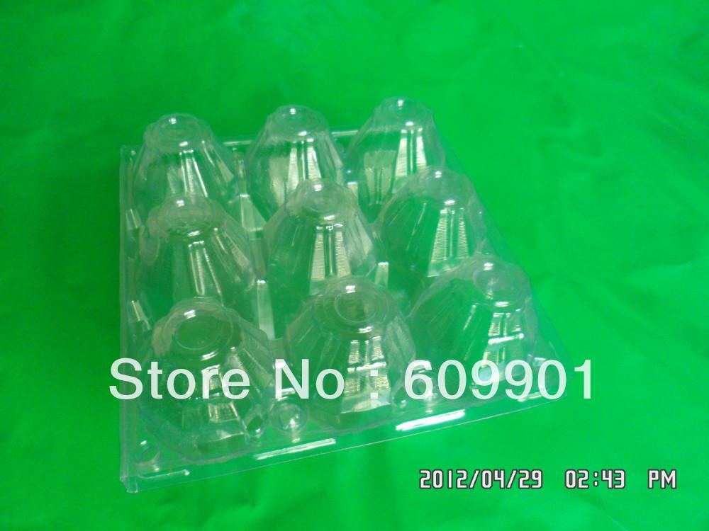 3*3=9 pvc plastic egg tray carton(China (Mainland))