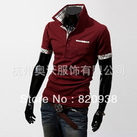 2013 Selling three one thousand British foreign men burst models summer clothing fashion short sleeve polo shirt POLO shirt Q01
