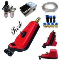 Complete Tattoo Kit Neuma Style Pneumatic Rotary Tattoo Machine Gun Kit Red