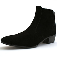 British style male high-top shoes nubuck leather shoes martin shoes attached the skates men's boots