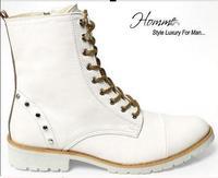 2013 new hot fashion zipper plus velvet cowboy boots leather casual men Tip head high help tide cowhide Martin boots Christmas