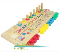 Digital board plate multicolour wooden toys