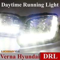 Verna Hyundai DRL daytime running lights Bright LED Foglight Encore LED daylight DRL 1:1 auto car headlights  2pc Free HK Post
