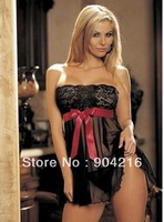 Fashion Sexy Lingerie Dress Underwear Babydoll Outfit Women's Costume Intimates Sleepwear+G-string One Size Free Shipping#7094