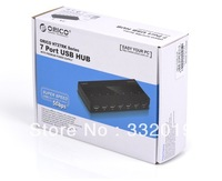 Orico h727rk-u2 7 usb splitter 3.0 voltage-stabilizing hub belt power supply