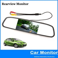 4.3 Inch Color Digital TFT-LCD Screen Car Rear View Mirror Monitor eye sight protected and  Low power consumption free shiping