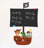[Top-Me]- Children's Pirate Ship Blackboard Wall Stickers self-adhesive great for playroom 67*39cm