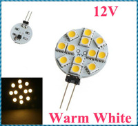 5pcs/lot G4 12 Warm White SMD LED 5050 Light Home Car RV Marine Boat Lamp Bulb DC-12V Wholesale