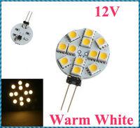 5pcs/lot G4 12 Warm White SMD LED 5050 Light Home Car RV Marine Boat Lamp Bulb DC-12V Wholesale