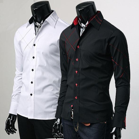 Camisas de Vestir para Caballero Mens Fashion Camisas