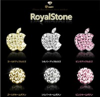 3 Colors Awsome Sticker  Sells Luxury For iPhone 5 3/4G/4S iPod iPad Bling Diamond Crystal Deco Home Button & Logo Sticker
