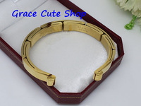 Love Brand Bangles Lady Fashion Jewelry Stainless Stee Open Style 5A Top Quality (Cards,Dust Bag,Original Box) #CT97-Gold