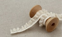 Wholesale exquisite elastic stretch lace trim handmade 13mm,Free shipping