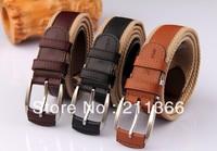 Free Shipping Unisex Fashion canvas belt Casual belt Mens and women strap Ceivgnture Buckle Belt men's belt