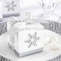 "wholesale and retail ""Winter Dreams"" Laser-Cut Snowflake Favor Box"