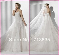 New Arrival High Quality Sweetheart Mermaid Beading Tulle Wedding Dress