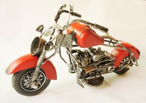Iron antique style vintage motorcycle model car gift free shipping(China (Mainland))