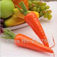 Wholesale 6pcs/lot high artificial carrot vegetables fruit formative education mould home decorations