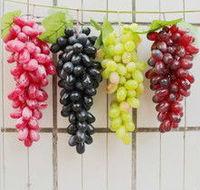 90pcs/set Grape bunches high artificial grapes home cabinet supermarket shop decorations Photography mold