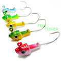 Lot of 50 jigs head 5 colors 3g fishing lures bait Q5