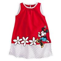 Free shipping 5pcs/lot  children clothing baby girs summer sleeveless polka dot dress with minnie design