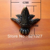 Antique decorative corner foot  four sides of the box theropod alloy foot  care foot wooden palette