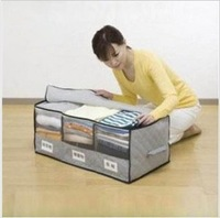 free shipping wholesale hight quality news 65L  three cases Bamboo storage clothing order bags taste windows storage box 0.6kg