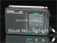 high qualty Tecsun R-909 world band transistor radio FM/MW/SW support universal mode the listener