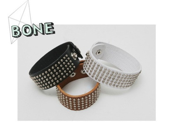 Pu leather rivet bracelets bangle jewelry for ladies men BB-68(China (Mainland))