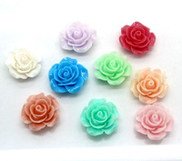 100Pcs Mixed Resin Flower Flatback Cabochon Scrapbooking Craft