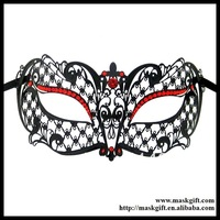 Free shipping MB001-RBK Masquerade Halloween Carnival Mask 48 pieces/lot Delicate Filigree Metal Design