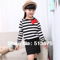 Free shipping 2013 New Children short-sleeved T-shirt 2013 summer new girls/boys children's clothing T-shirt