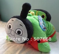 50pcs/Lot New Thomas the Tank Engine PERCY Cushion Pillow Plush Doll GREEN Wholesale