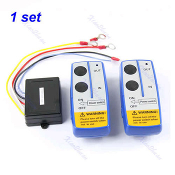 free shipping 10pcs piece 50ft Wireless Winch Remote Control Switch Handset Kit For Jeep ATV SUV UTV 12V