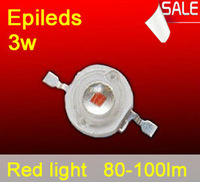 Free shipping led grow light red LED emitting diode led beads 3w 80-100lm plant growth light lamp high flux 620-630nm hot sale