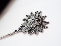 Classical beauty hair stick handmade miao silver hair maker child girls hair accessory birthday gift