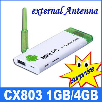 CX803 android mini pc Android 4.1 TV stick RK3066 1.6Ghz Dual core 1G RAM 4G ROM WiFi antenna android tv box