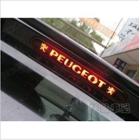 Free shipping Automobile carbon fiber high brake stickers decoration vinyl film for peugeot 307       N-358