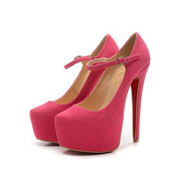 Free shipping 2013 High fashion classical series women's fashion platform pink big size pumps gg52