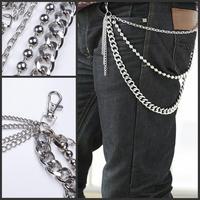 free shipping Male hip-hop kulian belly chain kulian punk multi-layer metal kulian non-mainstream kulian