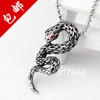 Snake zodiac titanium steel fashion snake necklace pendant stainless steel male necklace gift